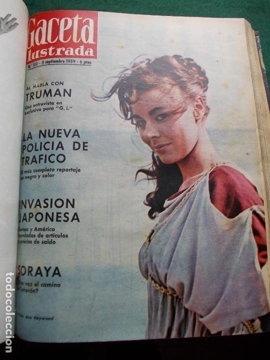 Coleccionismo de Revista Gaceta Ilustrada: ACETA ILUSTRADA 1959 COMPLETA MAS DE 52 REVISTAS FOTOS DE LAS PORTADAS - Foto 18 - 169855664