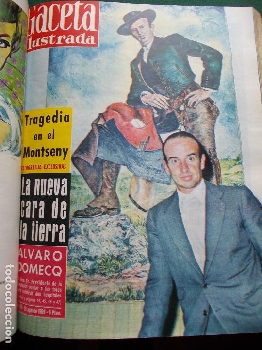 Coleccionismo de Revista Gaceta Ilustrada: ACETA ILUSTRADA 1959 COMPLETA MAS DE 52 REVISTAS FOTOS DE LAS PORTADAS - Foto 19 - 169855664