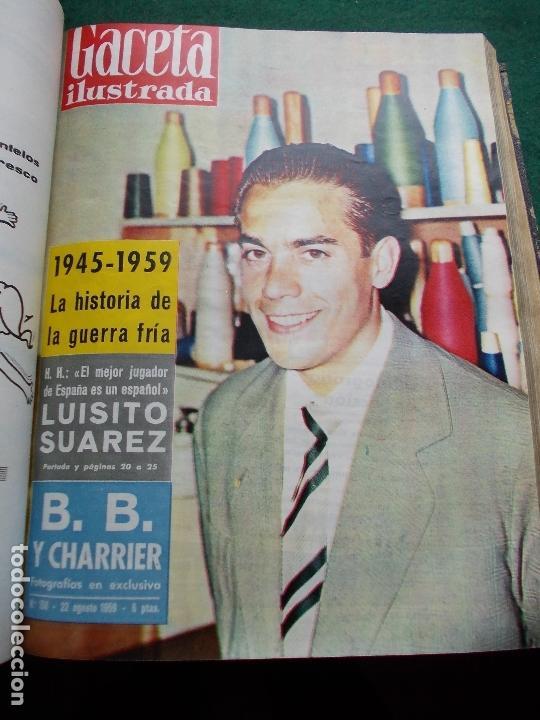 Coleccionismo de Revista Gaceta Ilustrada: ACETA ILUSTRADA 1959 COMPLETA MAS DE 52 REVISTAS FOTOS DE LAS PORTADAS - Foto 20 - 169855664