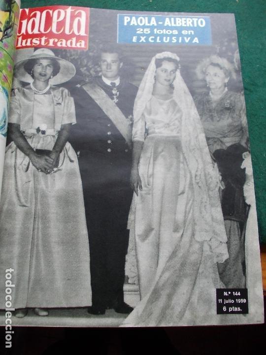 Coleccionismo de Revista Gaceta Ilustrada: ACETA ILUSTRADA 1959 COMPLETA MAS DE 52 REVISTAS FOTOS DE LAS PORTADAS - Foto 26 - 169855664