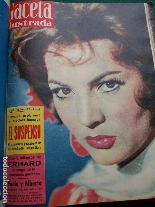 Coleccionismo de Revista Gaceta Ilustrada: ACETA ILUSTRADA 1959 COMPLETA MAS DE 52 REVISTAS FOTOS DE LAS PORTADAS - Foto 29 - 169855664