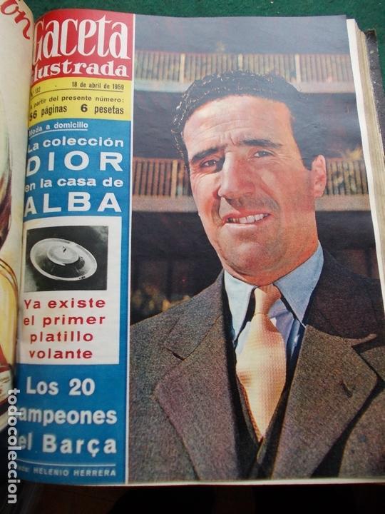 Coleccionismo de Revista Gaceta Ilustrada: ACETA ILUSTRADA 1959 COMPLETA MAS DE 52 REVISTAS FOTOS DE LAS PORTADAS - Foto 38 - 169855664