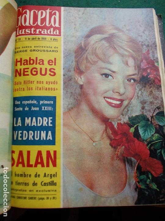 Coleccionismo de Revista Gaceta Ilustrada: ACETA ILUSTRADA 1959 COMPLETA MAS DE 52 REVISTAS FOTOS DE LAS PORTADAS - Foto 39 - 169855664