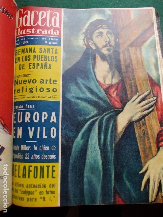Coleccionismo de Revista Gaceta Ilustrada: ACETA ILUSTRADA 1959 COMPLETA MAS DE 52 REVISTAS FOTOS DE LAS PORTADAS - Foto 42 - 169855664