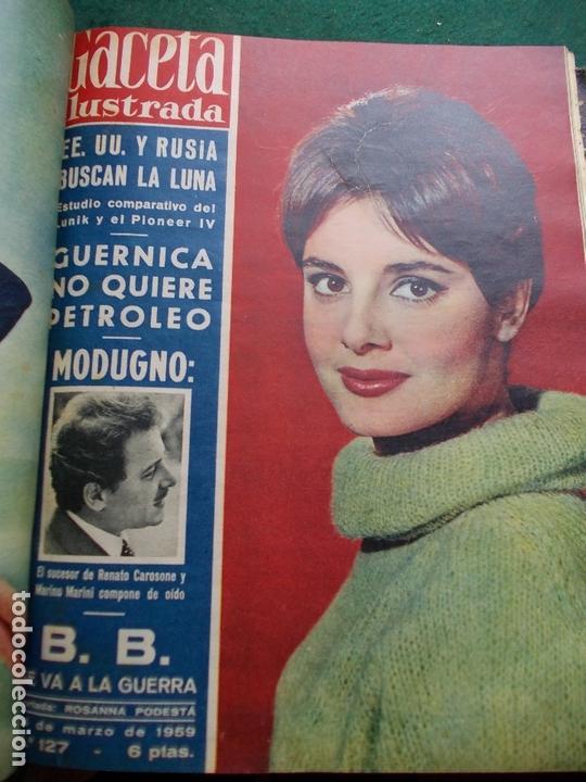 Coleccionismo de Revista Gaceta Ilustrada: ACETA ILUSTRADA 1959 COMPLETA MAS DE 52 REVISTAS FOTOS DE LAS PORTADAS - Foto 43 - 169855664