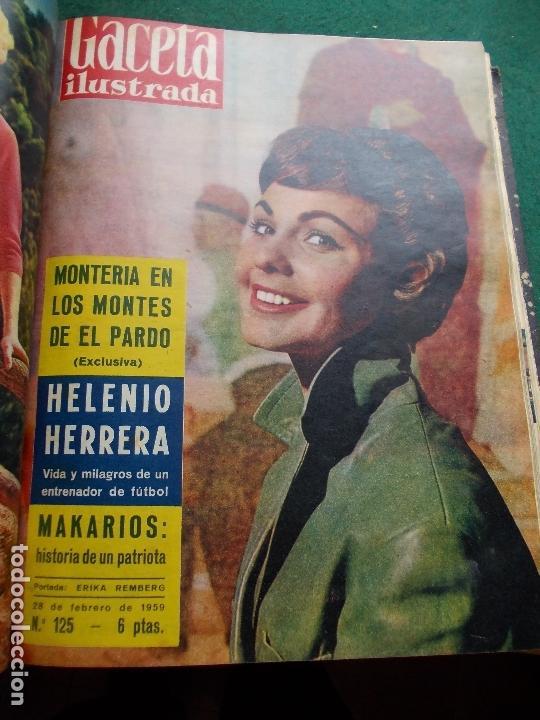 Coleccionismo de Revista Gaceta Ilustrada: ACETA ILUSTRADA 1959 COMPLETA MAS DE 52 REVISTAS FOTOS DE LAS PORTADAS - Foto 45 - 169855664