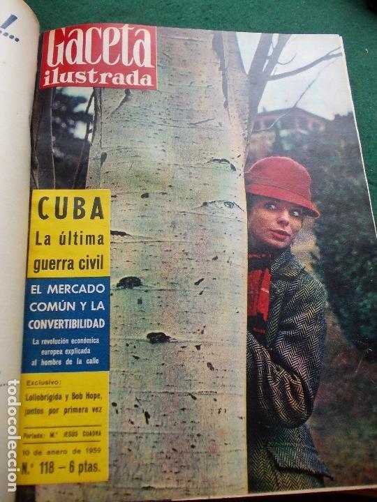 Coleccionismo de Revista Gaceta Ilustrada: ACETA ILUSTRADA 1959 COMPLETA MAS DE 52 REVISTAS FOTOS DE LAS PORTADAS - Foto 52 - 169855664