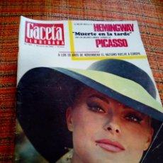 Coleccionismo de Revista Gaceta Ilustrada: REVISTA GACETA ILUSTRADA. Lote 169962713