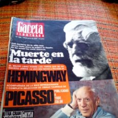 Coleccionismo de Revista Gaceta Ilustrada: REVISTA GACETA ILUSTRADA. Lote 169962844