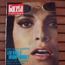 Coleccionismo de Revista Gaceta Ilustrada: GACETA ILUSTRADA 1966 / RAQUEL WELCH, HEMINGWAY. Lote 169998332