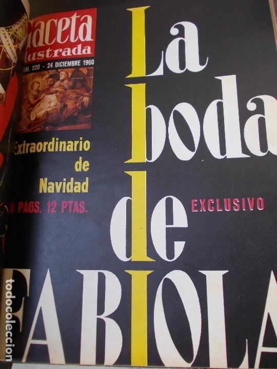 Coleccionismo de Revista Gaceta Ilustrada: REVISTA GACETA ILUSTRADA 1960 COMPLETO TODO EL AÑO MAS DE 50 REVISTAS FOTOS DE TODAS LAS PORTADAS - Foto 3 - 170312956