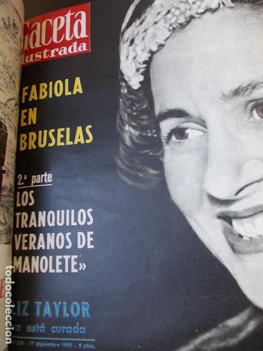 Coleccionismo de Revista Gaceta Ilustrada: REVISTA GACETA ILUSTRADA 1960 COMPLETO TODO EL AÑO MAS DE 50 REVISTAS FOTOS DE TODAS LAS PORTADAS - Foto 4 - 170312956