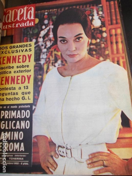 Coleccionismo de Revista Gaceta Ilustrada: REVISTA GACETA ILUSTRADA 1960 COMPLETO TODO EL AÑO MAS DE 50 REVISTAS FOTOS DE TODAS LAS PORTADAS - Foto 8 - 170312956