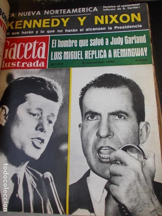 Coleccionismo de Revista Gaceta Ilustrada: REVISTA GACETA ILUSTRADA 1960 COMPLETO TODO EL AÑO MAS DE 50 REVISTAS FOTOS DE TODAS LAS PORTADAS - Foto 10 - 170312956