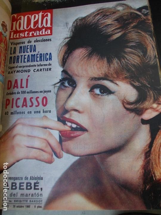 Coleccionismo de Revista Gaceta Ilustrada: REVISTA GACETA ILUSTRADA 1960 COMPLETO TODO EL AÑO MAS DE 50 REVISTAS FOTOS DE TODAS LAS PORTADAS - Foto 11 - 170312956