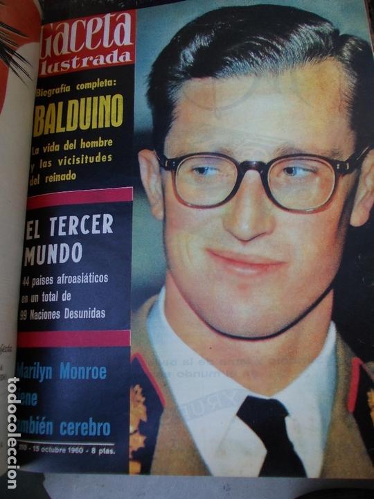 Coleccionismo de Revista Gaceta Ilustrada: REVISTA GACETA ILUSTRADA 1960 COMPLETO TODO EL AÑO MAS DE 50 REVISTAS FOTOS DE TODAS LAS PORTADAS - Foto 13 - 170312956