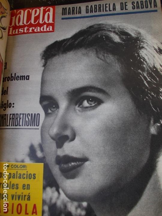 Coleccionismo de Revista Gaceta Ilustrada: REVISTA GACETA ILUSTRADA 1960 COMPLETO TODO EL AÑO MAS DE 50 REVISTAS FOTOS DE TODAS LAS PORTADAS - Foto 14 - 170312956