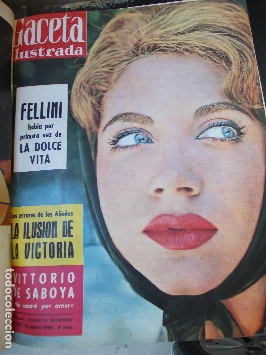 Coleccionismo de Revista Gaceta Ilustrada: REVISTA GACETA ILUSTRADA 1960 COMPLETO TODO EL AÑO MAS DE 50 REVISTAS FOTOS DE TODAS LAS PORTADAS - Foto 21 - 170312956