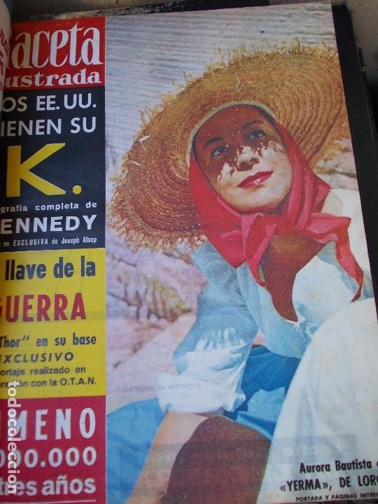 Coleccionismo de Revista Gaceta Ilustrada: REVISTA GACETA ILUSTRADA 1960 COMPLETO TODO EL AÑO MAS DE 50 REVISTAS FOTOS DE TODAS LAS PORTADAS - Foto 25 - 170312956