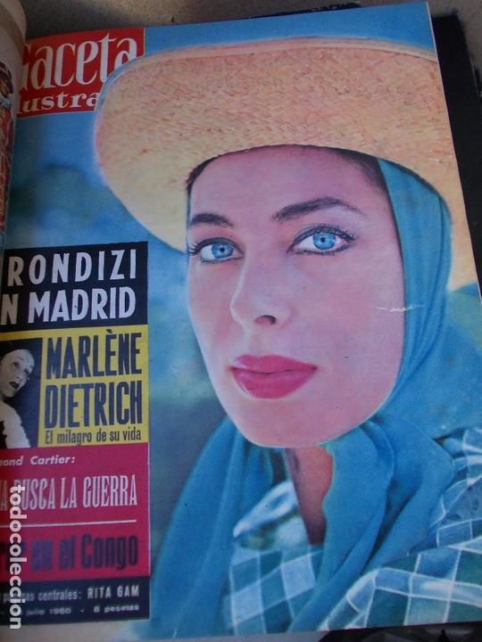 Coleccionismo de Revista Gaceta Ilustrada: REVISTA GACETA ILUSTRADA 1960 COMPLETO TODO EL AÑO MAS DE 50 REVISTAS FOTOS DE TODAS LAS PORTADAS - Foto 26 - 170312956
