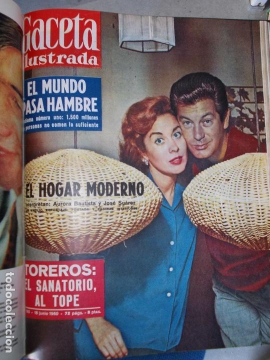 Coleccionismo de Revista Gaceta Ilustrada: REVISTA GACETA ILUSTRADA 1960 COMPLETO TODO EL AÑO MAS DE 50 REVISTAS FOTOS DE TODAS LAS PORTADAS - Foto 30 - 170312956