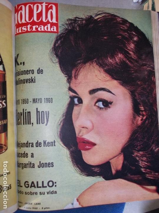 Coleccionismo de Revista Gaceta Ilustrada: REVISTA GACETA ILUSTRADA 1960 COMPLETO TODO EL AÑO MAS DE 50 REVISTAS FOTOS DE TODAS LAS PORTADAS - Foto 32 - 170312956