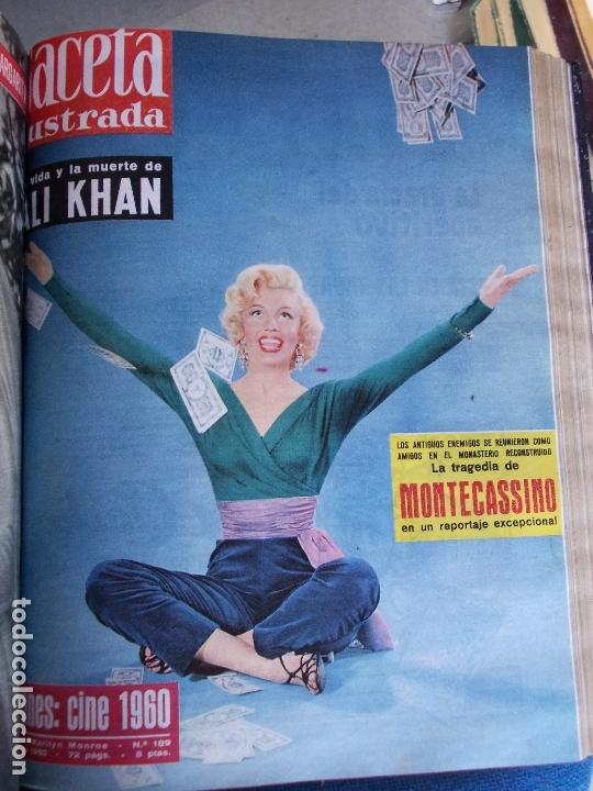 Coleccionismo de Revista Gaceta Ilustrada: REVISTA GACETA ILUSTRADA 1960 COMPLETO TODO EL AÑO MAS DE 50 REVISTAS FOTOS DE TODAS LAS PORTADAS - Foto 34 - 170312956