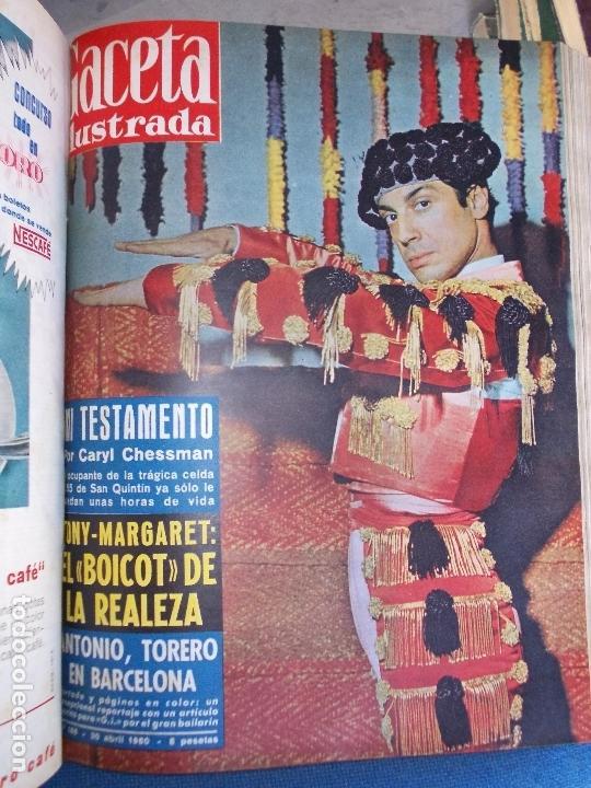 Coleccionismo de Revista Gaceta Ilustrada: REVISTA GACETA ILUSTRADA 1960 COMPLETO TODO EL AÑO MAS DE 50 REVISTAS FOTOS DE TODAS LAS PORTADAS - Foto 37 - 170312956