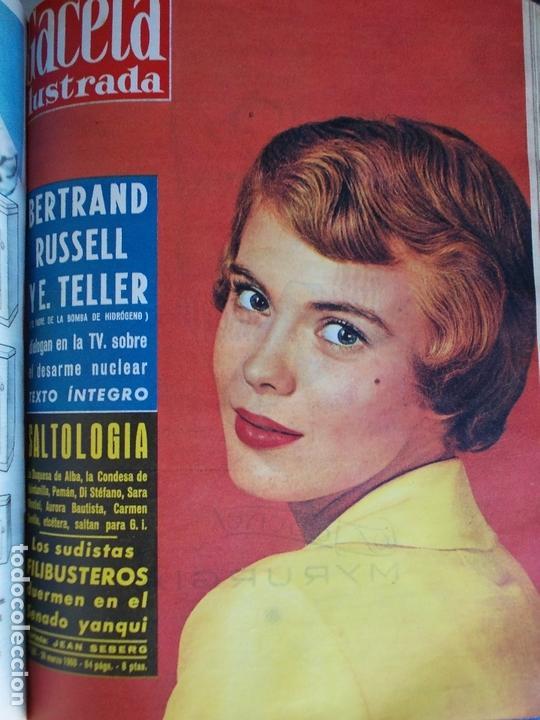 Coleccionismo de Revista Gaceta Ilustrada: REVISTA GACETA ILUSTRADA 1960 COMPLETO TODO EL AÑO MAS DE 50 REVISTAS FOTOS DE TODAS LAS PORTADAS - Foto 42 - 170312956