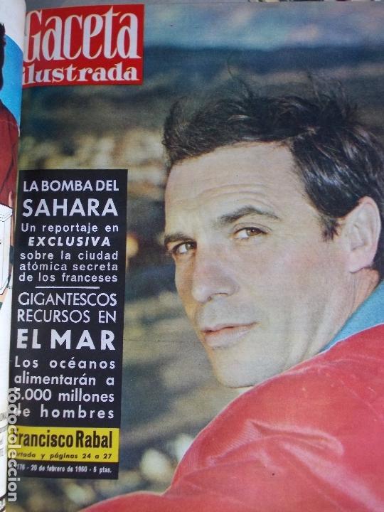 Coleccionismo de Revista Gaceta Ilustrada: REVISTA GACETA ILUSTRADA 1960 COMPLETO TODO EL AÑO MAS DE 50 REVISTAS FOTOS DE TODAS LAS PORTADAS - Foto 47 - 170312956