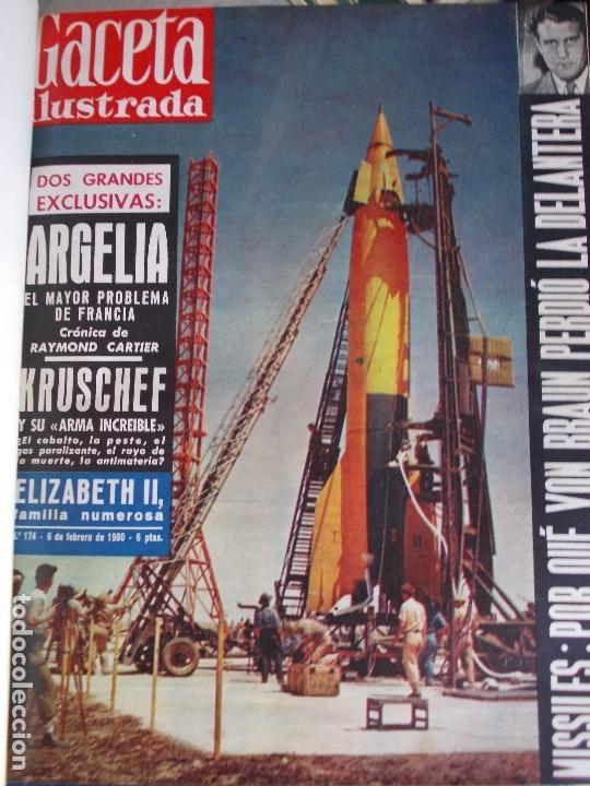 Coleccionismo de Revista Gaceta Ilustrada: REVISTA GACETA ILUSTRADA 1960 COMPLETO TODO EL AÑO MAS DE 50 REVISTAS FOTOS DE TODAS LAS PORTADAS - Foto 49 - 170312956