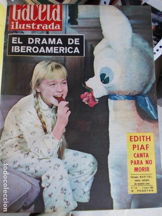 Coleccionismo de Revista Gaceta Ilustrada: REVISTA GACETA ILUSTRADA 1960 COMPLETO TODO EL AÑO MAS DE 50 REVISTAS FOTOS DE TODAS LAS PORTADAS - Foto 53 - 170312956