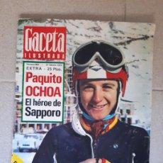Collectionnisme de Magazine Gaceta Ilustrada: GACETA ILUSTRADA Nº 803. 27 FEBRERO 1972. PAQUITO OCHOA, EL HÉROE DE SAPPORO.. Lote 174514939