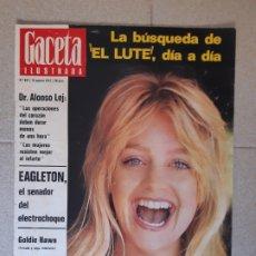 Collectionnisme de Magazine Gaceta Ilustrada: GACETA ILUSTRADA Nº 827. 13 AGOSTO 1972. LA BÚSQUEDA DEL LUTE DÍA A DÍA.. Lote 174515369