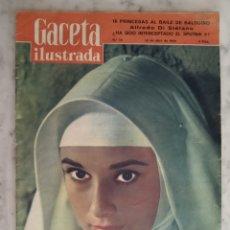 Coleccionismo de Revista Gaceta Ilustrada: GACETA ILUSTRADA - Nº 79 - AUDREY HEPBRUN - ALFREDO DI STEFANO. Lote 175913559