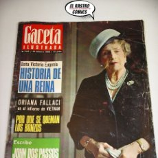 Collectionnisme de Magazine Gaceta Ilustrada: GACETA ILUSTRADA Nº 593, 1968, VICTORIA EUGENIA, VIETNAM, JACQUES PICCARD, POLANSKY, SHARON TATE. Lote 175985597