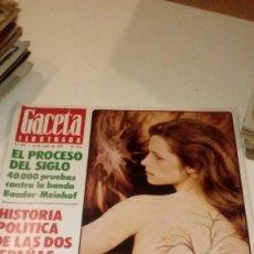 Coleccionismo de Revista Gaceta Ilustrada: REVISTA GACETA ILUSTRADA Nº 974 CHARLOTTE RAMPLING PROCESO DEL SIGLO. Lote 176277660