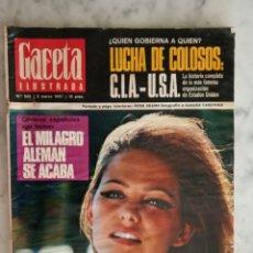 Coleccionismo de Revista Gaceta Ilustrada: GACETA ILUSTRADA Nº 543 - AÑO 1967 - CLAUDIA CARDINALE - EL ESCARABAJO -. Lote 179064741