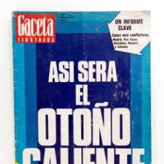 Coleccionismo de Revista Gaceta Ilustrada: GACETA ILUSTRADA 1040 1976 - EL OTOÑO CALIENTE, BARBARA REY, ARDEN CASAS EN SOBRADO DEL OBISPO. Lote 187461128