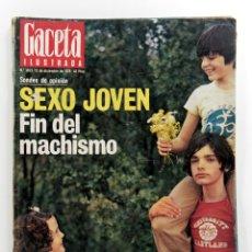 Collectionnisme de Magazine Gaceta Ilustrada: GACETA ILUSTRADA Nº 1053. DICIEMBRE 1976. ENTREVISTA RAFAEL ALBERTI. CARICATURA ADOLFO SUAREZ. Lote 187461372