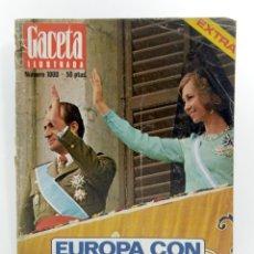 Coleccionismo de Revista Gaceta Ilustrada: REVISTA GACETA ILUSTRADA NUMERO 1000. AÑO 1975. PROCLAMACION REY ESPAÑA JUAN CARLOS I REYES.EXTRA. Lote 187461492