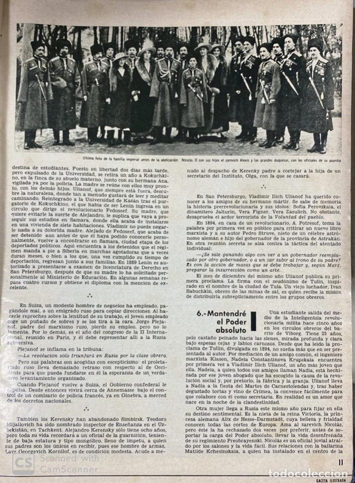 Coleccionismo de Revista Gaceta Ilustrada: LA GACETA ILUSTRADA. LA REVOLUCION RUSA + SVETLANA STALIN 20 CARTAS A UN AMIGO I, II Y III. 1967.VER - Foto 4 - 189249561