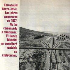 Coleccionismo de Revista Gaceta Ilustrada: 1971 TREN BAEZA UTIEL NIÑO BUDISTA ZEN JACKIE STEWART FORMULA 1 PINTURA ANTONIO MARIA BLANCO BALI . Lote 189364567