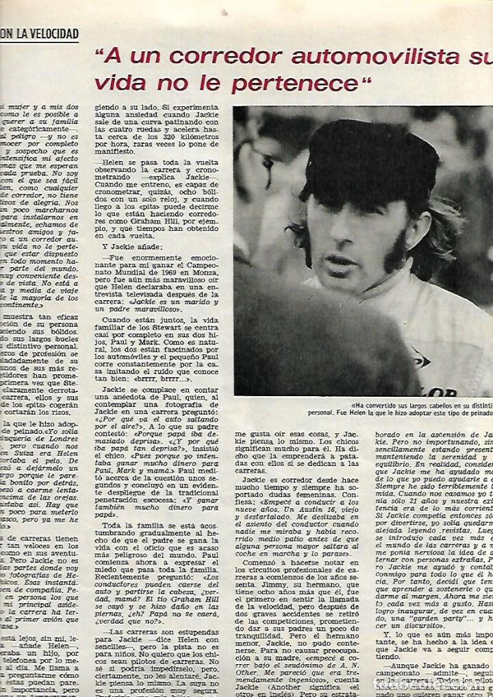 Coleccionismo de Revista Gaceta Ilustrada: 1971 TREN BAEZA UTIEL NIÑO BUDISTA ZEN JACKIE STEWART FORMULA 1 PINTURA ANTONIO MARIA BLANCO BALI - Foto 6 - 189364567