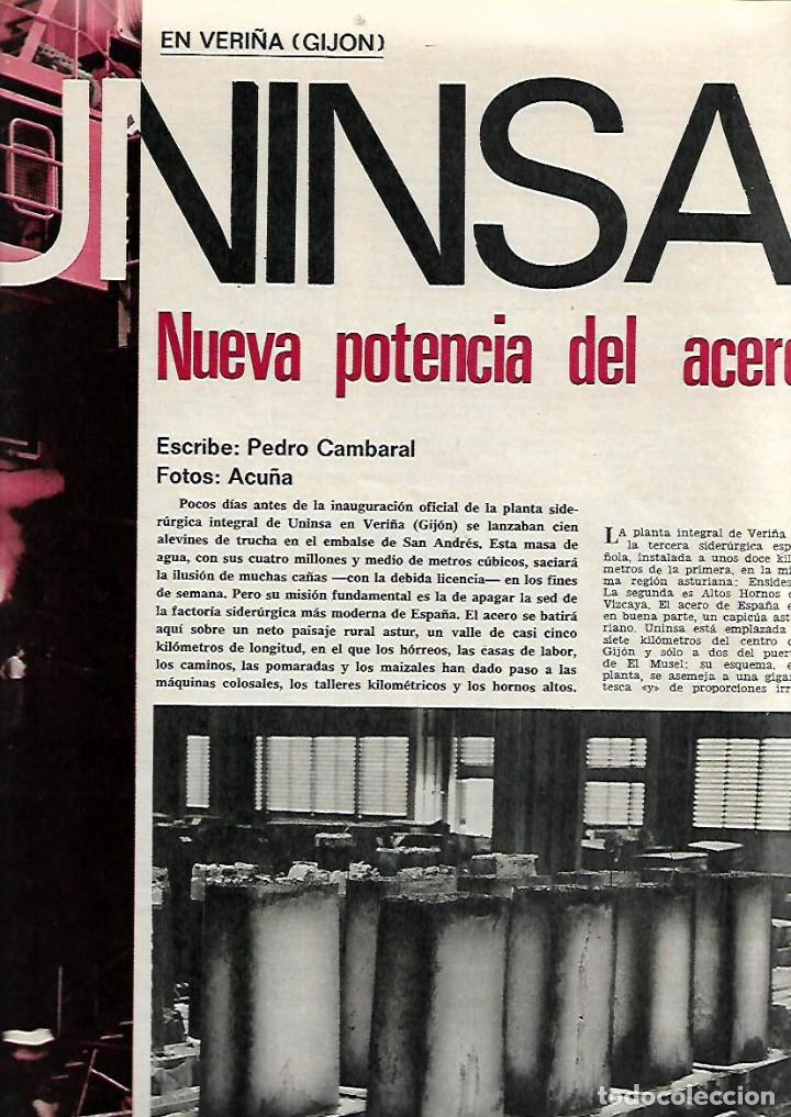 AÑO 1971 UNINSA ACERO VERIÑA GIJON ULSTER IRA KARATE FEMENINO TRAGEDIA HELEANNA NAUFRAGIO BARCELO (Coleccionismo - Revistas y Periódicos Modernos (a partir de 1.940) - Revista Gaceta Ilustrada)