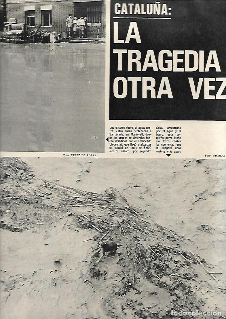 Coleccionismo de Revista Gaceta Ilustrada: AÑO 1971 INUNDACIONES EN CATALUÑA SANTACADA MARTORELL CORNELLA ORIO AGUILUCHOS TRAINERAS STEINER - Foto 3 - 190178030