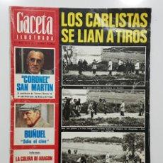 Collectionnisme de Magazine Gaceta Ilustrada: GACETA ILUSTRADA 1976 CARLISTAS. SUCESOS DE MONTEJURRA, CARLISMO. LUIS BUÑUEL ENTREVISTA. Lote 192456086
