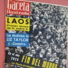Coleccionismo de Revista Gaceta Ilustrada: GACETA ILUSTRADA REVISTA Nº 236 -15-04-1961- EN EL AÑO 2026 EL FIN DEL MUNDO - LAOS - LIZ TAYLOR . Lote 193638882