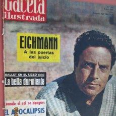 Coleccionismo de Revista Gaceta Ilustrada: GACETA ILUSTRADA REVISTA Nº 235- 06-04-1961 - RAF VALLONE . EICHMAN A LAS PUERTAS DEL JUICIO . Lote 193639090