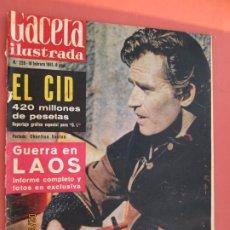 Coleccionismo de Revista Gaceta Ilustrada: GACETA ILUSTRADA REVISTA Nº 228- 18-02-1961 - PORTADA CHARLTON HESTON , GUERRA EN LAOS . Lote 193641211